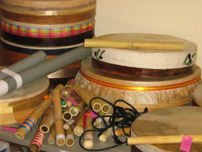 Συλλογή μουσικών οργάνων κατασκευασμένων από τις τους φοιτήτριες/ες του ΤΕΑΠΗ