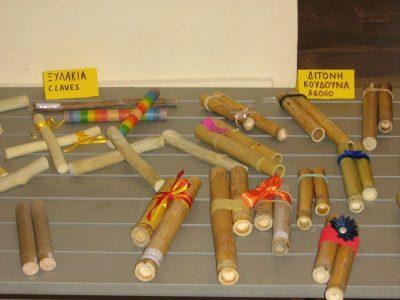 Ξυλάκια (claves), ξύλινη δίτονη κουδούνες, νουνούρες